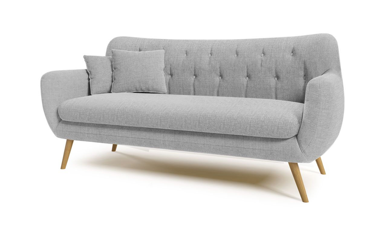Ciaran 3 Seater Retro Sofa