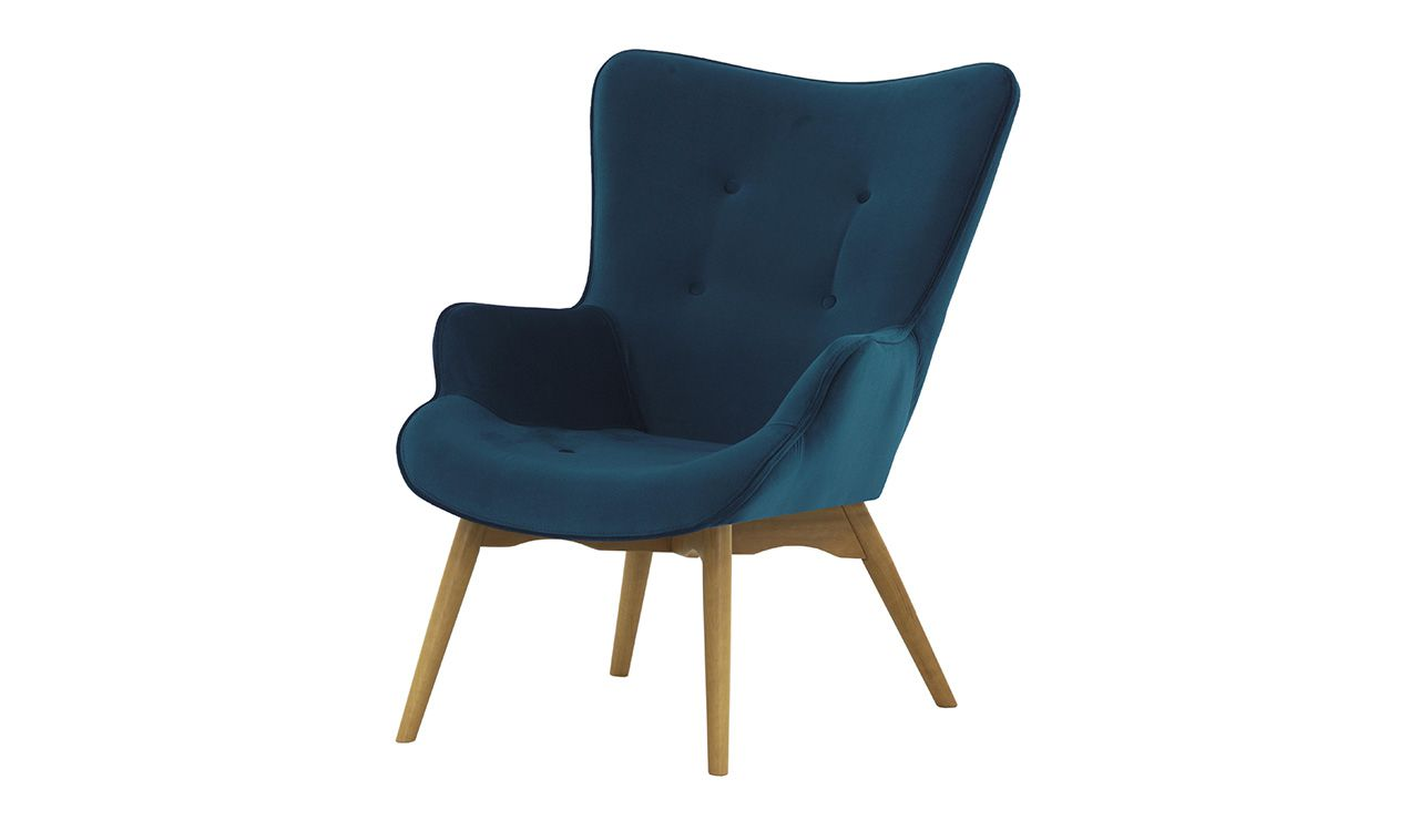 Dakota Velvet Wingback Chair