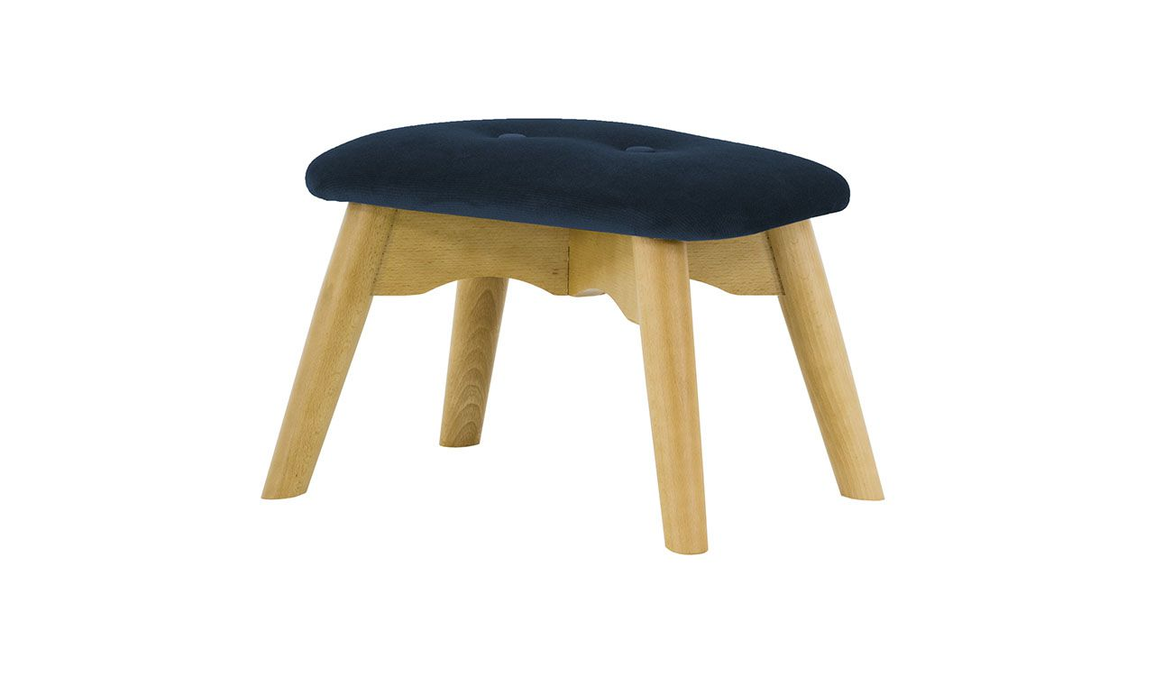 Dakota Mini Velvet Children's Footstool