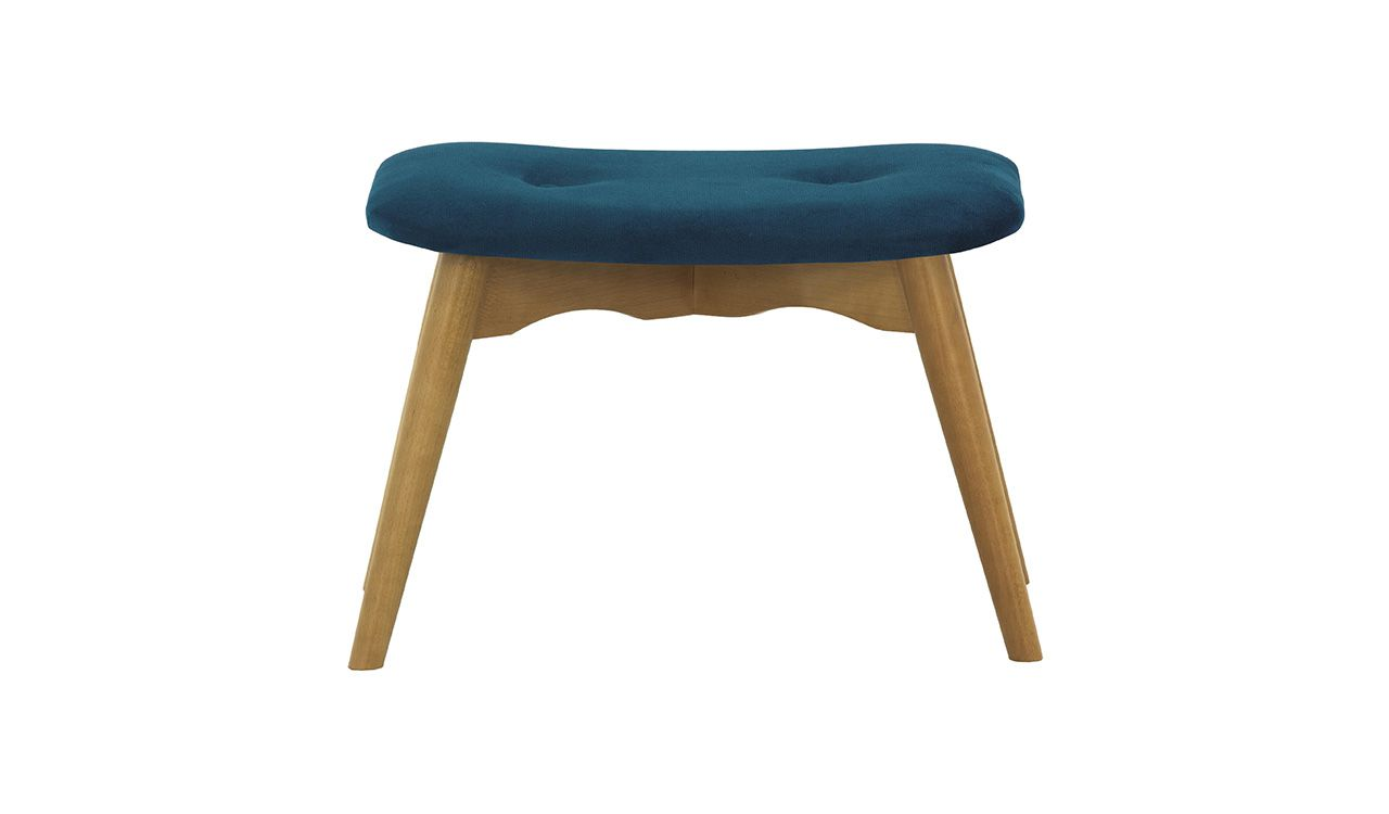 Dakota Velvet Footstool