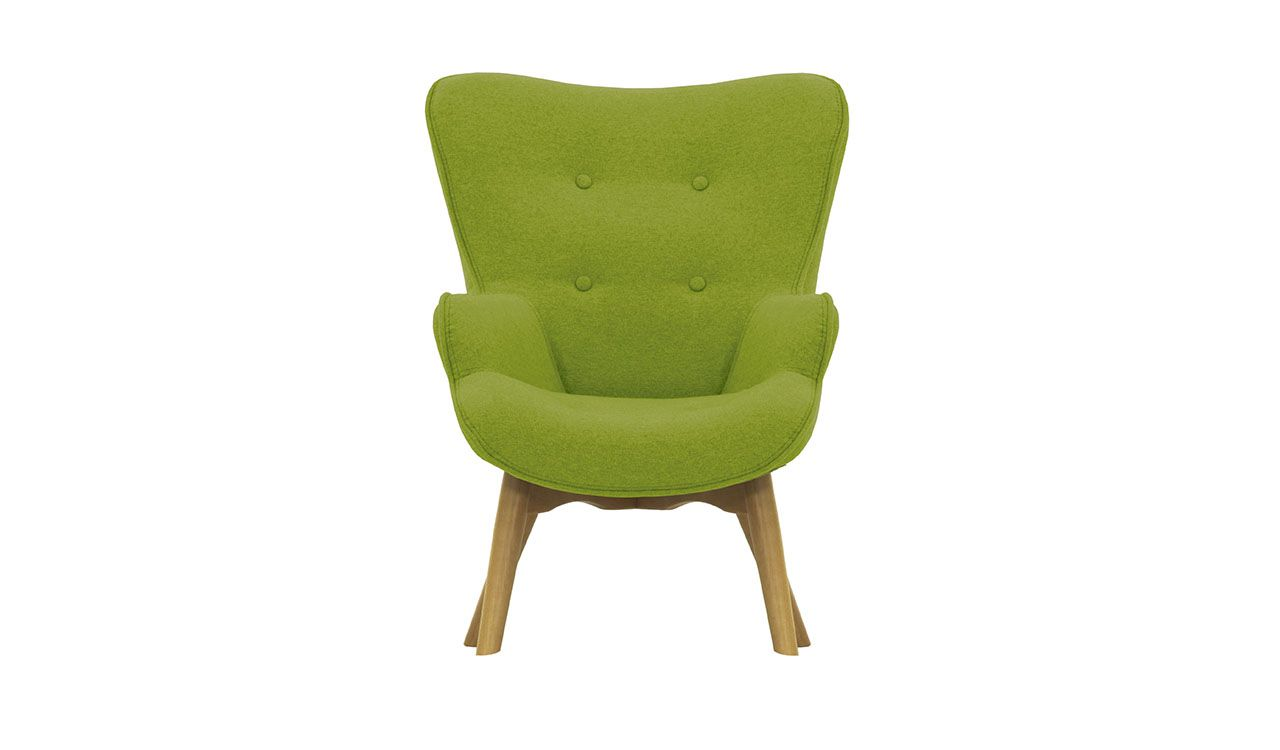Dakota Mini Children's Wingback Chair + Footstool