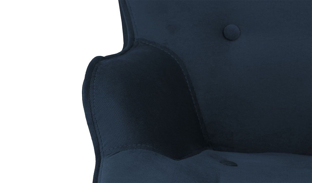 Dakota Mini Velvet Children's Wingback Chair